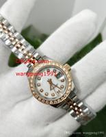 Señoras reloj de manera 26mm 279381 Blanco Dial Diamond Bisel fecha de zafiro de cristal dos tonos pulsera de oro relojes del reloj de las mujeres automáticas