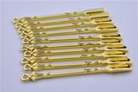 Metallo dorato Cucchiaio Uso Per Sniffer Pippotto HOOVER HOOTEER Snuff Pippotto Polvere Spoon Accessori fumatori