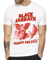 SABBATO NERO Heaven and Hell English Rock Heavy Metal Band T-Shirt T-Shirt da uomo Stile estivo Moda Swag T-Shirt da uomo
