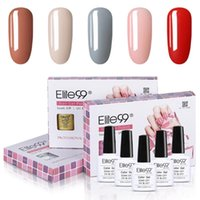Elite99 5pieces / lot lumière Gel couleur Vernis à ongles Set Soak Off Semi Nail Art permanent manucure émail Laque Kit hybride Vernis