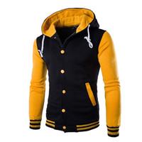Pullover Männer / Jungen-Baseball-Jacken-Mann-Mode-Design Wein-Rot-Männer Slim Fit College-Uni-Jacken-Mann-Marken Stilvolle Veste Homme
