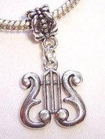 100pcs prata tibetana Lira Musical Harp Nota da música Símbolo Encantos Pingentes Para fazer jóias Descobertas presentes Braceletes Brincos Colar DIY