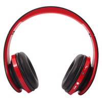 NX- 8252 Red&Black Foldable Wireless Headphone Stereo Sports ...
