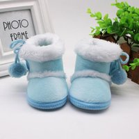 First Walkers #30 Infant Born Baby Girls Shoes Winter Cashmere Plush Boots Bandage Warm Girl Sapatos Menina