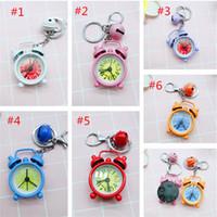 Sevimli Mini Saat Anahtarlık Karikatür Anahtarlık Küçük Çalar Saat Anahtarlık Yaratıcı Hediye Çift Anahtarlık Güzel Popüler Yeni Aksesuarlar Askılı