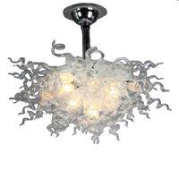Crystal White Chansstiers Современные красивые муранские стекло потолочные люстры светодиодные фонари творческий подвесной светлый отель гостиной освещение