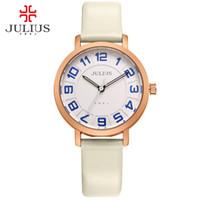 JULIUS Alibaba Express Ladies Watches Women Dress Ultra Thin Cheap Promotion Round Leather Relogio Free Ship Dropship JA-939