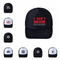 Ben Beyzbol Şapka Siyah Hayatlar Matter Parade Caps Açık Yaz Güneş kremi Snapback I Cant Nefes Caps Parti Şapkalar 120pcs RRA3 Breathe Can not