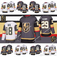 Maglie da hockey di Vegas Golden Knights 29 Marc-Andre Fleury 18 James Neal 71 William Karlsson 56 Erik Haula 67 Max Pacioretty 88 Nate Schmidt
