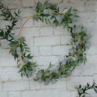 Çelenk Yeşil Bitki Düğün Dekorasyon Asma 2m Yapay Dekorasyon Rattan Yapay Okaliptüs İpek Çiçek Vine
