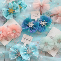 2020 Ins sequin lace hair bows girls hair clips flower princ...