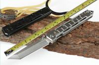 새로운 새총의 JL-17 멀티 접이식 원래 선물 boxcamping 사냥 칼 접는 칼을 칼 (검은 색과 샌딩)