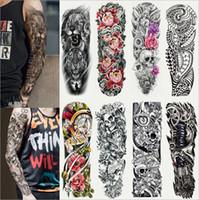 NOUVEAUX hommes et femmes 40 styles plein bras autocollant de tatouage imperméable temporaire plein bras bras autocollant de tatouage 17 * 48CM