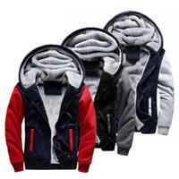 MJARTORIA Fashion Brand Толстовки мужские зима 2018 сгущает Толстовка Мужчины толстовки Толстовка Мужчины Zipper пальто Sudadera Hombre