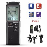 مسجل صوت USB Professional 96 ساعات Dictaphone أصوات الصوت الرقمية المسجلات مع Var / Vor ميكروفون ميكروفون 8GB 16GB 32GB