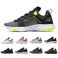 Hot React Element 55 running shoes for men women white black...