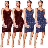 Womens Nightclub Sexy Dress Sequined Sling Short Dress V Nec...