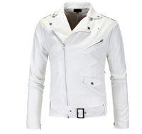 Mode Hommes Pu Cuir Veste Spring Automne Nouveau Britannique Style Hommes Cuir Veste Moto Manteau Mâteau Black Marron M-3XL