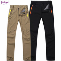 Beinai Winter Thermal Hiking Pants Man Solid Outdoor Softshe...