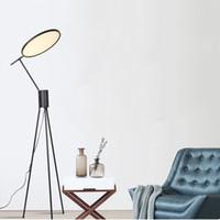 북유럽 포스트 모던 크리 에이 티브 간단한 플로어 램프 거실 홈 장식 빛 미국의 디자이너 소파 사이드 주도 플로어 램프 스탠드