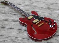 Üreticileri Özel Yeni Ürünler Satış Caz Hollow Maun Boyun Elektro Gitar