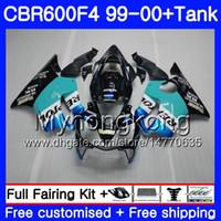 Bodys Repsol CYAN stock + Tank Für HONDA CBR 600 F4 FS CBR 600F4 CBR600F4 99 00 287HM.47 CBR600FS CBR600 F 4 CBR600 F4 1999 2000 Verkleidungssatz