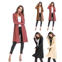 Autumn Winter Fashion Women Long Sleeve loose knitting cardi...