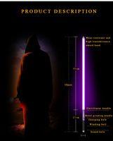 Renkli Lightsaber Işık Saber Metal Kılıç RGB Renklenme Lazer Cosplay Oyuncak Aydınlık Oyuncaklar Sopa Sabre Metal Kolu Kılıç Chang