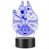 3D Uzay Gece Işığı Dokunmatik Masa Danışma Optik Illusion Lambalar 7 Renk Işıklar Ev Dekorasyon Noel Doğum Hediye değiştirme
