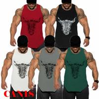 Yeni moda Spor Erkek kas kas Vücut Kolsuz Gömlek Tank Top Bodybuiding Spor Spor Stringer Atletik Yelek Bull
