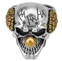 Cool Mens Boys Steel Biker Rings Vintage Indian Jaguar Warrior Skull Punk Jewelry Gift Gothic Men's Skull Ring