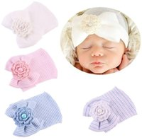 Newborn 100% Cotton Baby Hat Unisex Bow flower Available Sof...