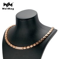 wholesale Dropshipping Rose Gold Necklace Women' s Crysta...