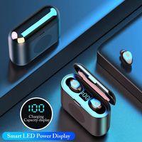 F9 2 en 1 écouteur sans fil Bluetooth Mini haut-parleur TWS Casque LED Sport Affichage Casque stéréo sans fil avec son Surround Speaker