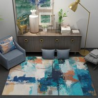 Sala de estar moderna 6mm 3D alfombra minimalista escandinavo del arte abstracto Mesa para sofá cojín dormitorio completo de noche Mat Alfombra lavable