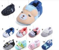 Botas de invierno recién nacido bebé 0-18M la historieta del bebé de algodón zapatos antideslizantes suaves botas de invierno bebés y niños pequeños zapatos para caminar Prewalkers