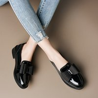 Women flats summer spring single oxford shoes 2019 PU leathe...