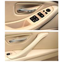 Натуральная кожа для автомобилей LHD Внутренние двери Ручка lnner панели Выдвижная Обрезка Для BMW 5 Series F10 F11 F18 520i 523i 525i 528i 535i