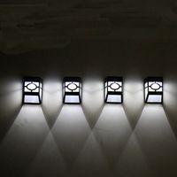 Solarbetriebene Wandmontage LED-helle Outdoor Gartenpfad Landschaftszaun Wasserdichte Gartenlampe Outdoor Gadgets Gartendekorationen OOA5149