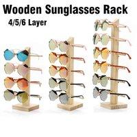 4/5/6 ovaiole di strati di legno di Sunglass Display Rack Shelf occhiali Stand supporto dei monili per il multi coppie di vetro di vetrina