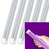 Purple T8 integrato a forma di V a forma UV a forma UV Light Nero Uva 395nm 400nm Tubo LED 1ft 2ft 3ft 4ft 5ft 6ft 8ft Ultraviolet Light