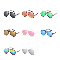 Moda bambini di personalità degli occhiali da sole dei bambini della rana specchio Occhiali da sole anti-UV Occhiali Color Film Occhiali Goggle adumbral A ++