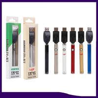Vertex Law Préchauffe de la batterie VV Twist Twist 350mAh Vape Tension Vase Tension USB Chargeur USB Kit de batterie pour 510 cartouches de fil 0266280
