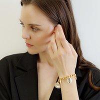 Stelle marine di Shell fascino della perla braccialetti della lega braccialetti di modo catena per le donne ragazze Beach Party dell'annata di dichiarazione dei monili regalo DHL all'ingrosso