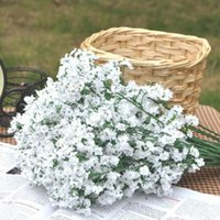 100 unids Artificial Baby Breath Flores Artificial Gypsophila Falsa Flor de Seda Planta Home Wedding Party Home Decoration