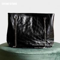 Büyük kadın Çantalar Tote çanta Alışveriş Omuz Çantaları Cüzdanlar Gerçek Deri Yeni Moda 2020 Siyah Büyük kapitone Messenger Çanta