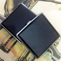 Neue Mode 20 stücke Metall Zigarettenetui Clip Persönlichkeit Automatische Zigarettenspitze Box Schwarz Und Überprüft Raucherbehälter Heißer Verkauf 5ljH1