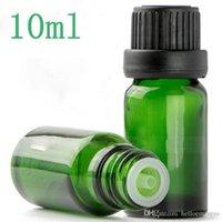 1536 قطع الكثير 10 ملليلتر زجاج زجاجات القطارة الضروري النفط فارغة 1 3 أوقية قطرة السائل ماصات الجرار الأخضر التجميل التغليف شحن مجاني