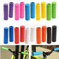 Lastik Bisiklet Gidon Sapları Kapak BMX MTB Dağ Bisiklet Kaymaz Bar Sapları Sabit Dişli Parçaları GH040 Bisikletler Kolları