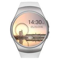KW18 Akıllı İzle Tam Ekran Yuvarlak Bluetooth Reloj Inteligente SIM Kart Nabız İzle Saat Karşıtı Bilezik İçin Android iOS kaybetti